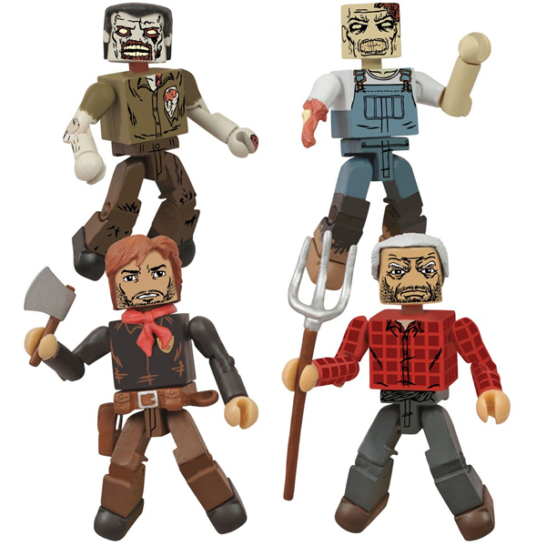 "San Diego Comic-Con 2013 Exclusive The Walking Dead ""Hershel's Farm"" Minimates Box Set - Deputy Rick Grimes, Hershel Green & Two Farm Zombies"