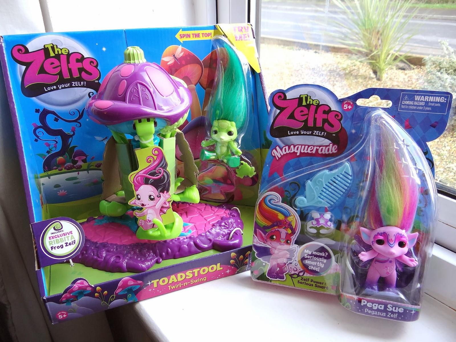The Zelfs Masquerade, Ultra Rare Zelf Ruby, The Zelfs Toadstool Twirl-n-Swing Playset