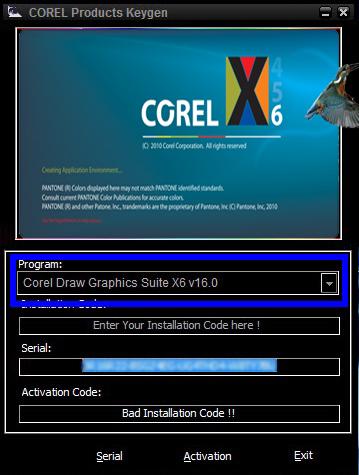 Keygen Corel Draw X6