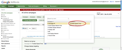 Screenshot shows how to select Ad Groups for your remarketing campaigns