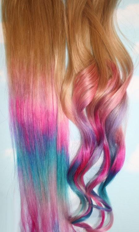 the hair chalk feels way different than sidewalk chalk i