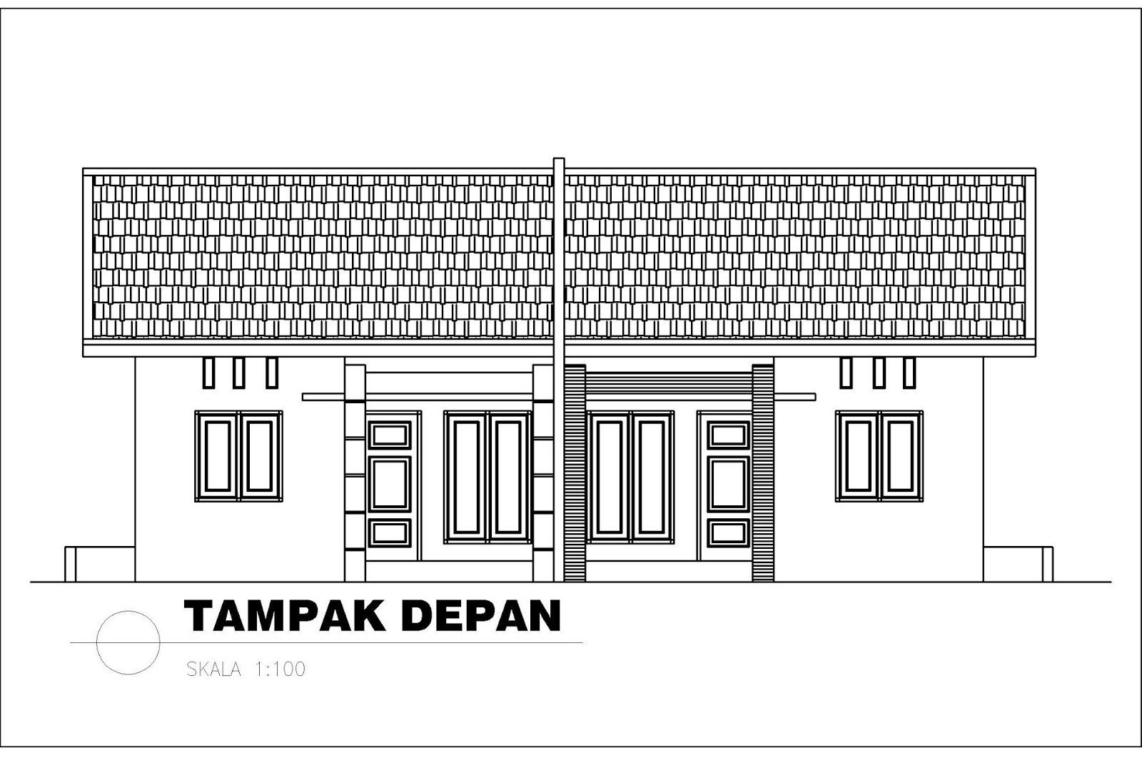 Konsep Rumah Type 36 Tampak Depan