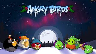 Angry birds natal dan tahun baru