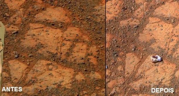 Resolvido mistério da estranha rocha de Marte