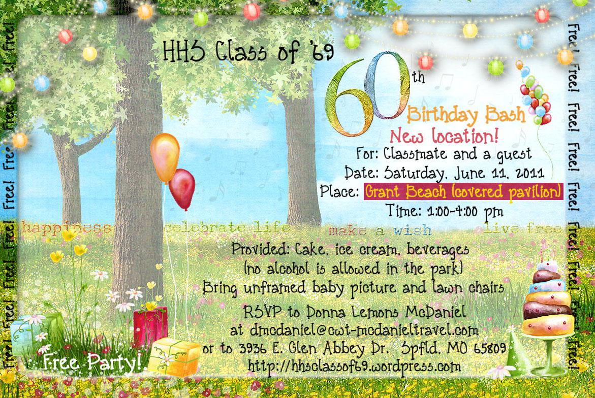 Birthday Invitations – Happy 60th Birthday Greetings