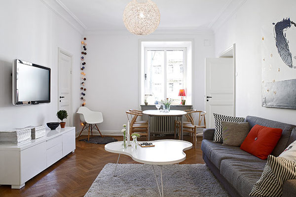 Salones para inspirarse de estilo nordico for Composiciones de salon