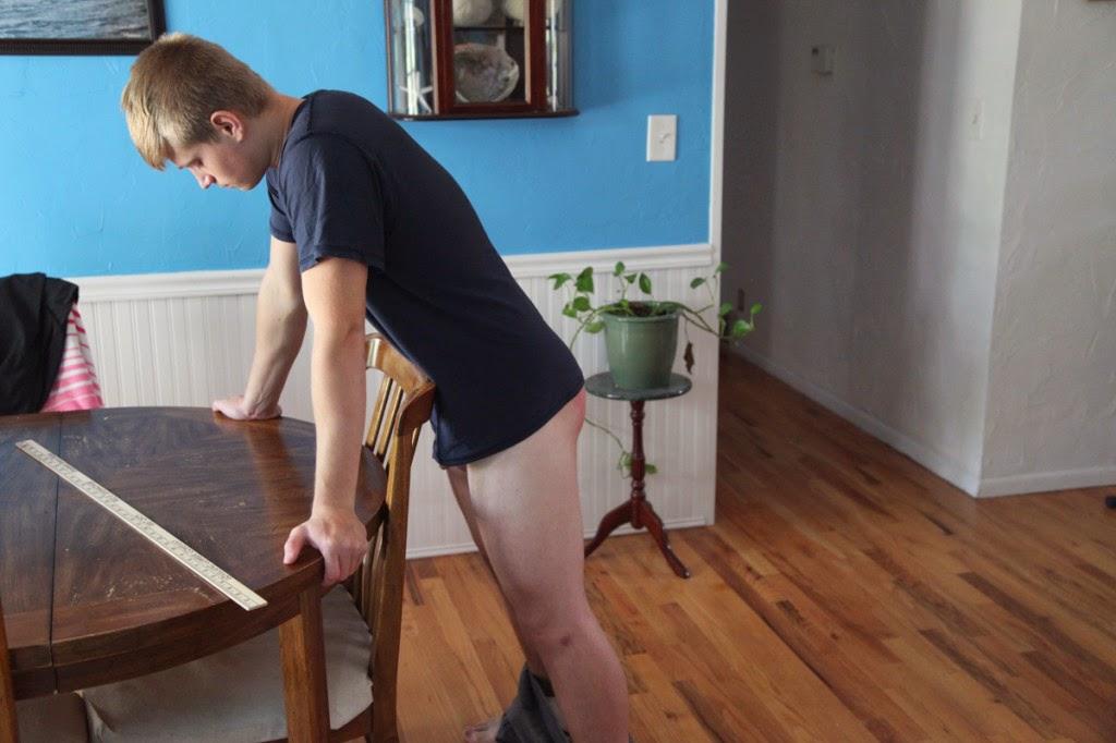 Blue satin panty upskirt