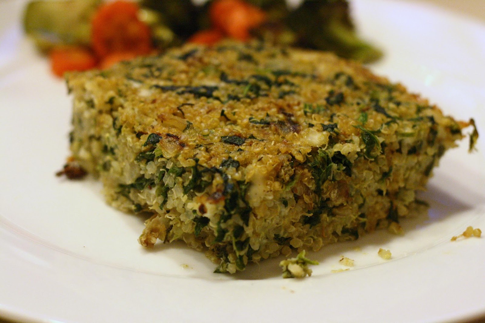 Laine's Recipe Box: Quinoa-Spinach Bake