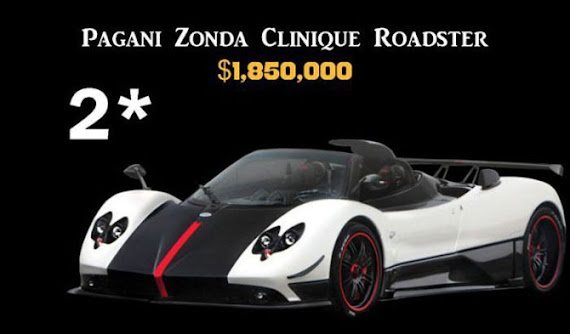 Pagani Zonda Clinique Roadster $1,850,000