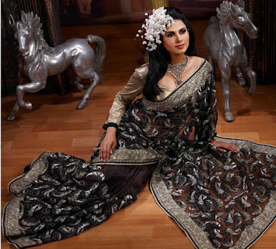 Black-Net-Saree-Design