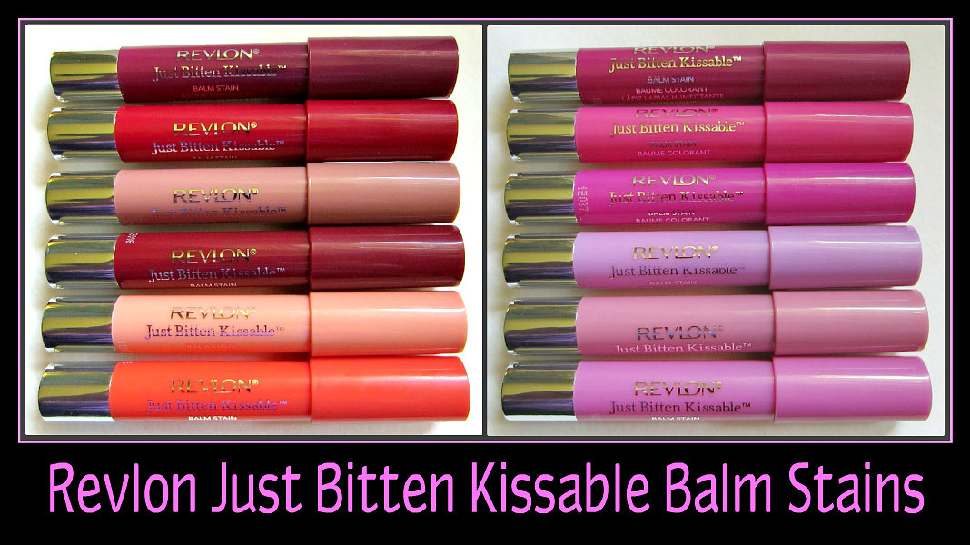 Revlon Just Bitten Kissable Balm Stain Master List & Swatches