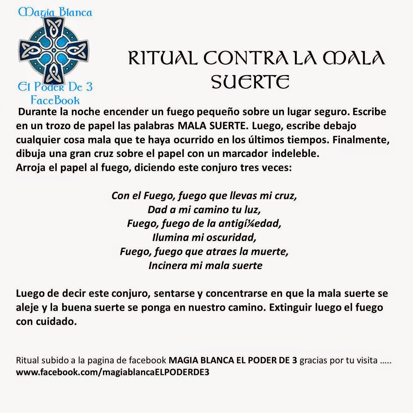 1000 ideas about hechizos de magia blanca on pinterest - Ritual para la suerte ...