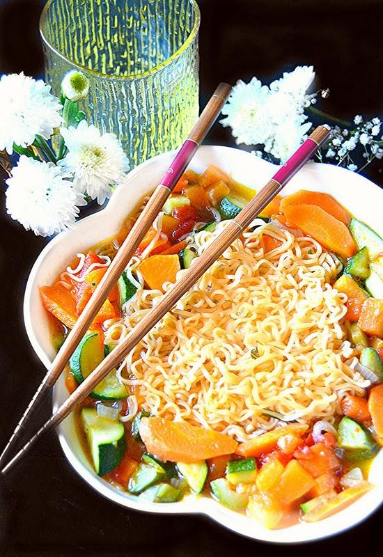 Cucine dal mondo-Zuppa di noodles alle  verdure