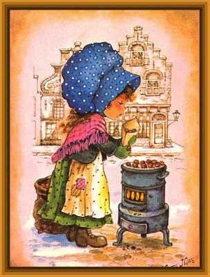postal retro de Mary May para scrapbooking