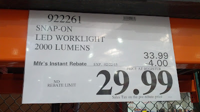 Snap-On LED Worklight 2000 Lumens at Costco with rebate