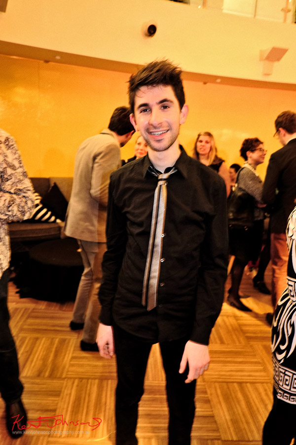 Artist portrait, pianist Alex Raineri after the concert with Andreas Ottensamer 'Yellow Lounge' Street Fashion Sydney