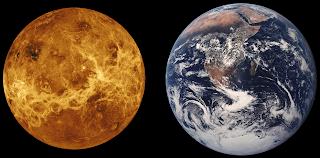 Earth compared to Venus