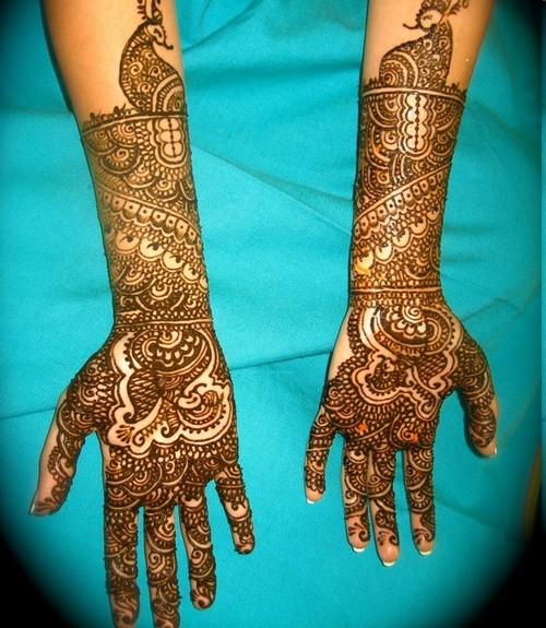 Modern Arabic Mehndi Designs : Modern bridal mehndi design makedes