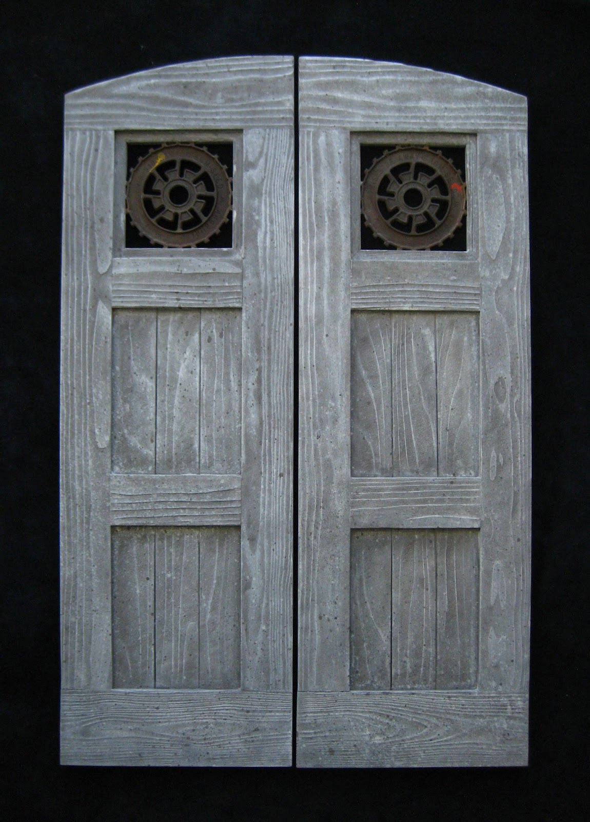 Custom cafe doors created for Carmel California clients for their home\u0027s Farmhouse Industrial decor. Doors were concepted designed and fabricated by me. & Man Cave Industries: Farmhouse Industrial Swinging Doors