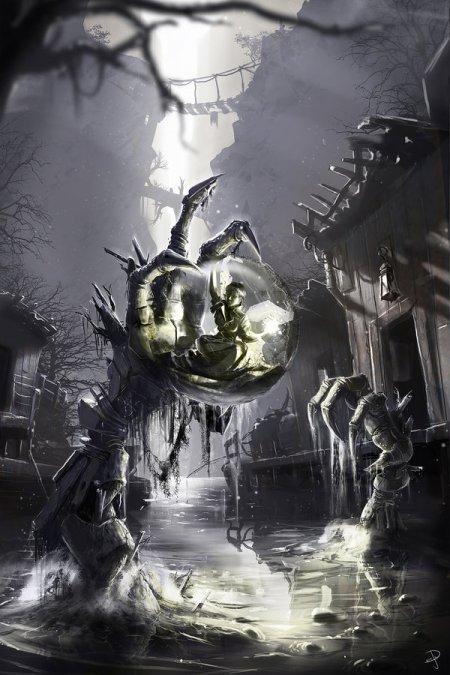 vincent ptitvinc deviantart ilustrações artes conceituais fantasia futurista robôs tecnologia Marra a fada do pântano