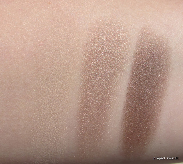 Burberry Trench, Pale Barley, Midnight Brown swatches