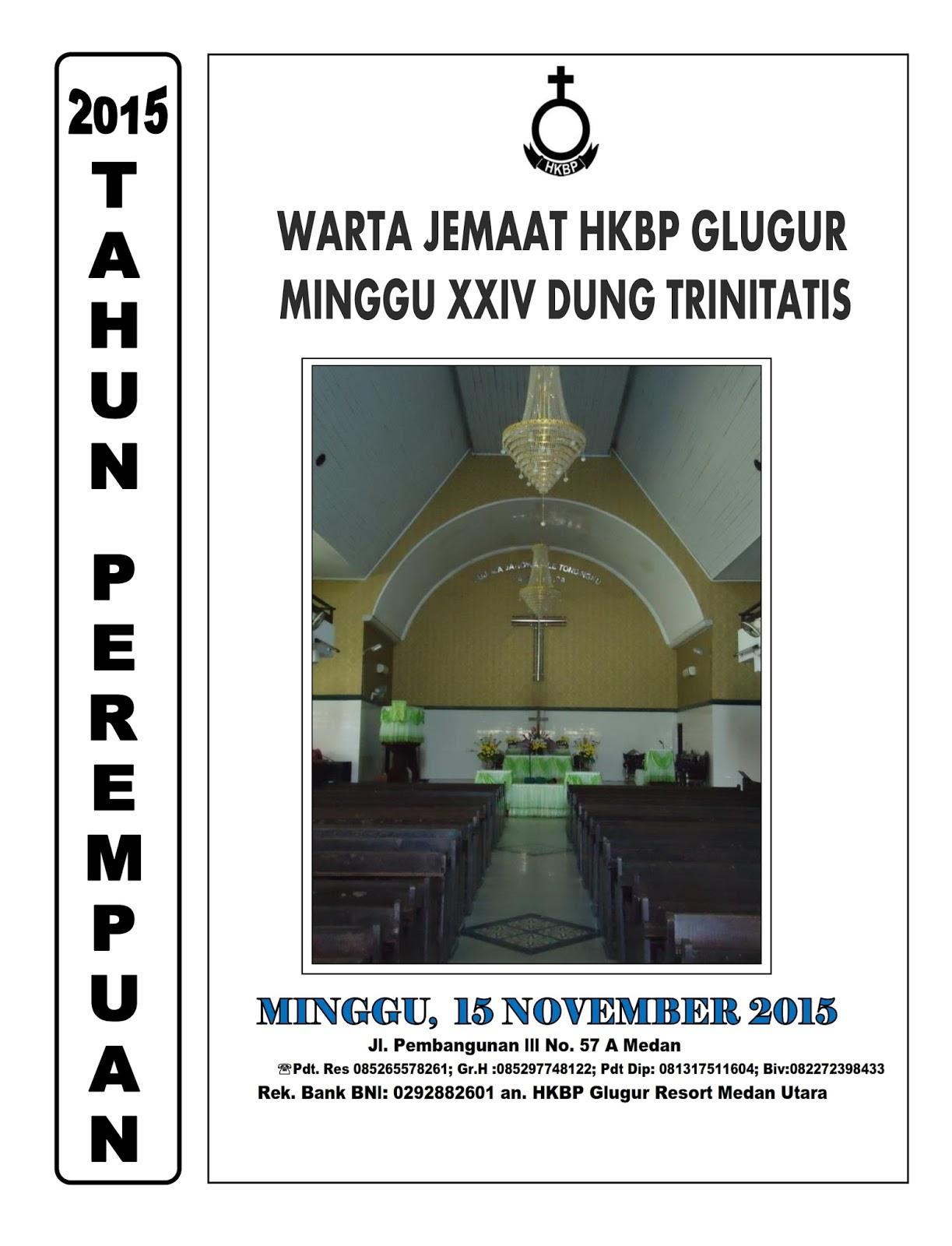 Warta Jemaat 15 November 2015