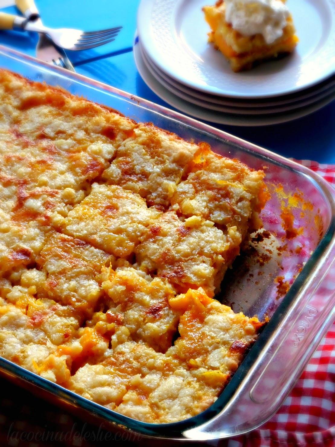 Mango Pie Bars - lacocinadeleslie.com