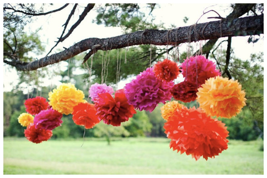 Colourful Paper Wedding Decorations