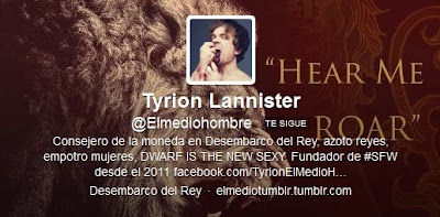 perfil en twitter de @elmediohombre creador de SFW - Juego de Tronos en los siete reinos