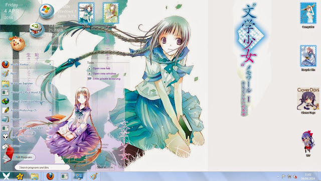 Tema Bungaku Shoujo - Tooko Amano Windows 7