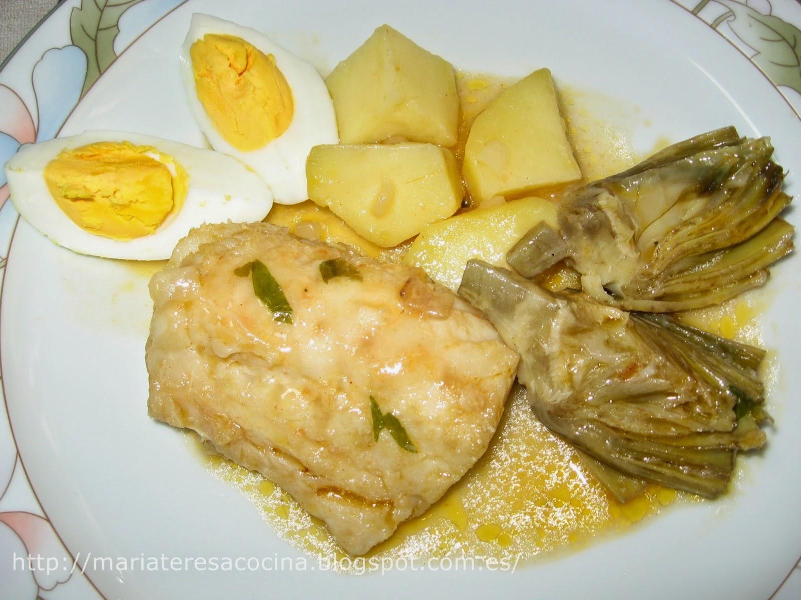 Mis recetas para ti bacalao con patatas y alcachofas - Bacalao con garbanzos y patatas ...
