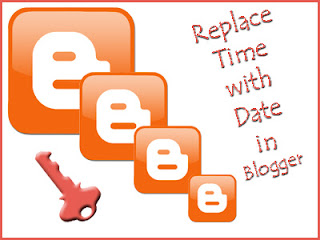 how to change time in blogger