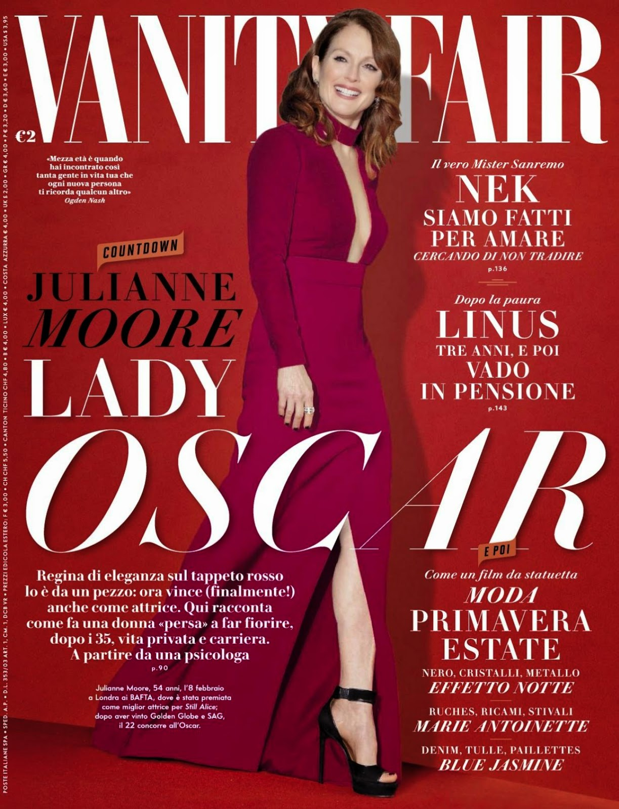 Actress: Julianne Moore - Vanity Fair Italy, February 2015