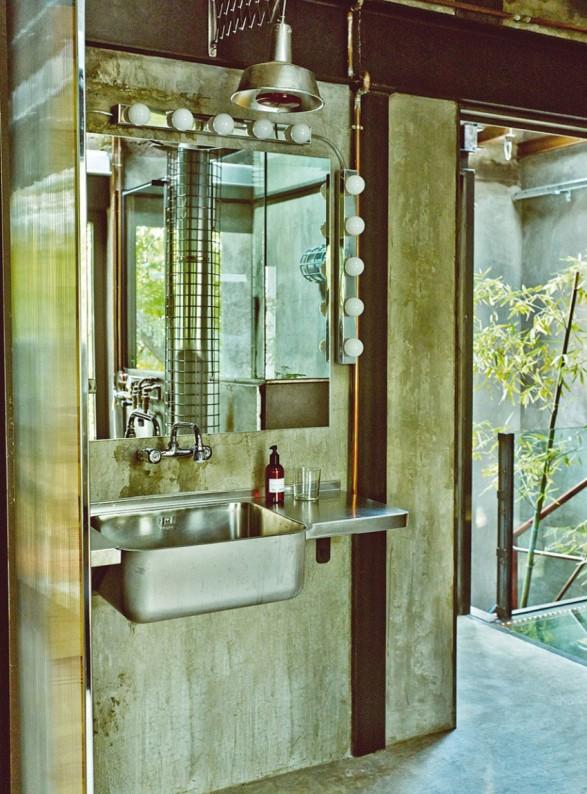 baño vintage e industrial