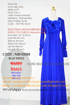 NBH0088 BLUE DRESS (CLEARANCE)