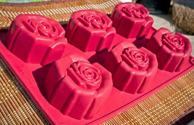 Rózsa szilikonos virág forma
