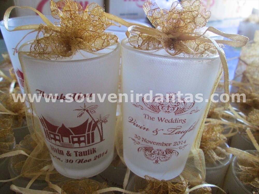 souvenir gelas sablon