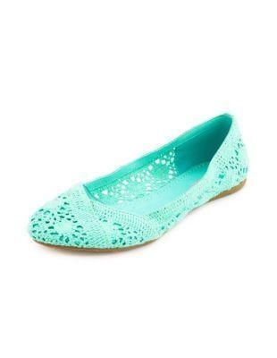 Gorgeous Mint Flat Shoes