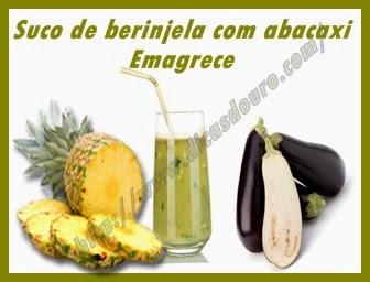 Suco de berinjela com abacaxi emagrece