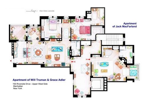 08-Will-&-Grace-Will-Truman-Grace-Adler-And-Jack-Apartments-Floor-Plan-Inaki-Aliste-Lizarralde