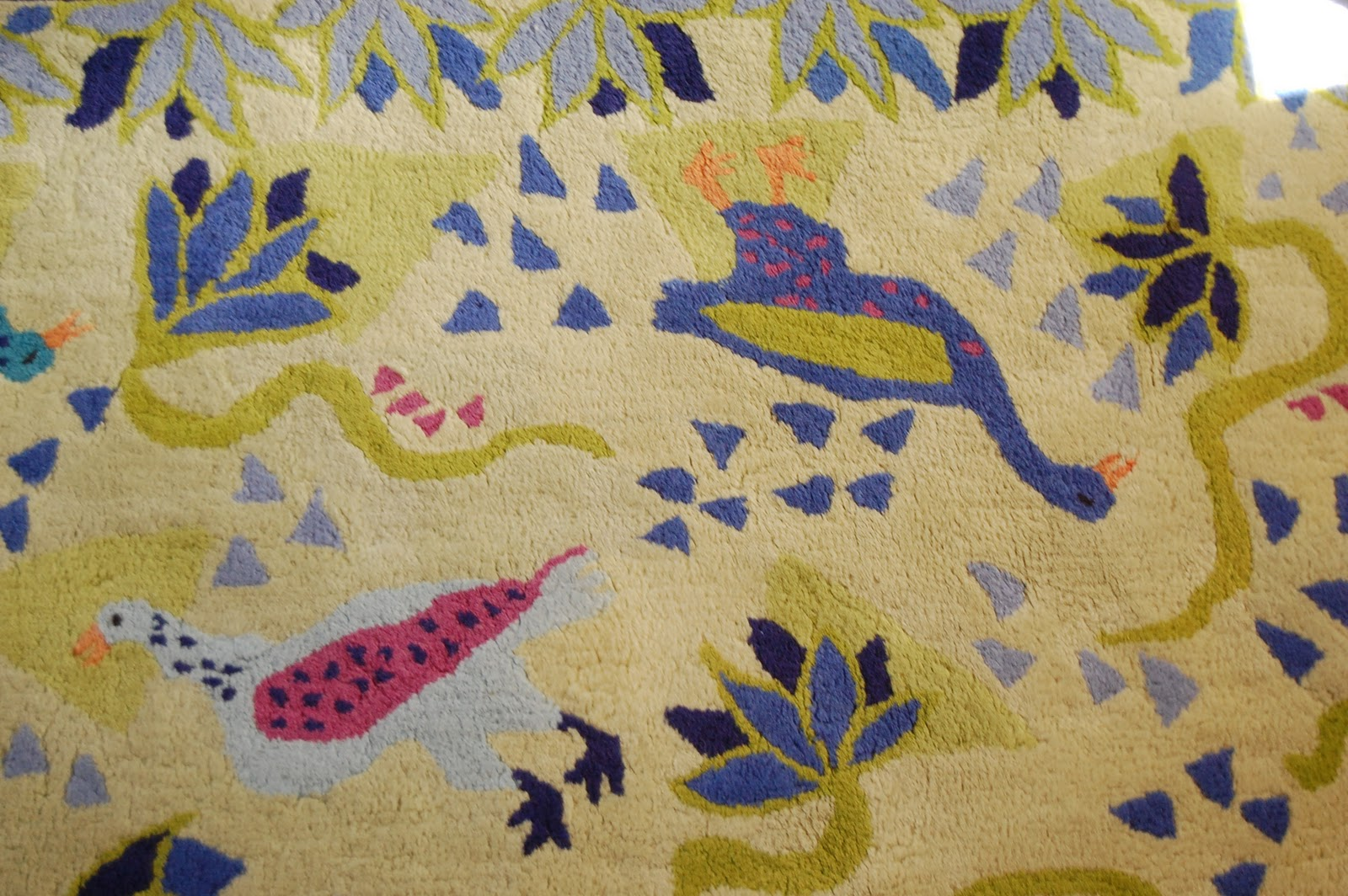 Superior Beautiful Susan Sargent 100% Wool Area Rug. 4u0027 X 6u0027. Handmade In Indian.  Very Plush. Playful Bird Design In Stunning Blues And Greens.