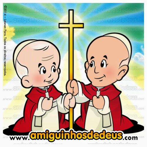 canonização joão paulo ii joão xxiii desenho