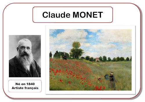 Claude Monet - Portrait d'artiste en maternelle