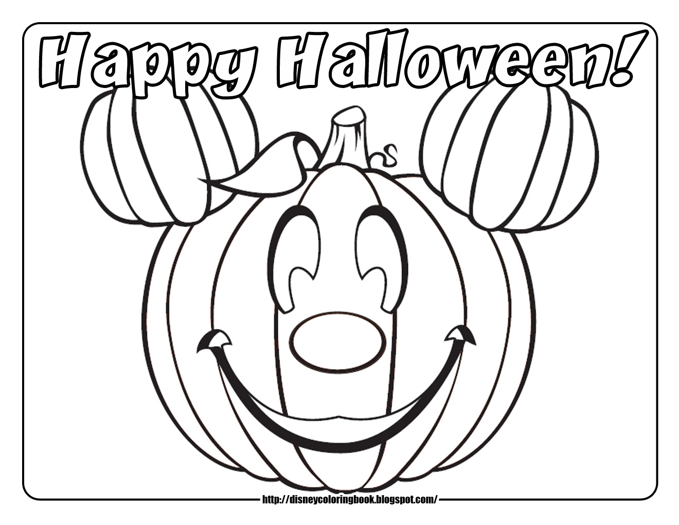 Mickey and Friends Halloween 1 Free Disney Halloween Coloring