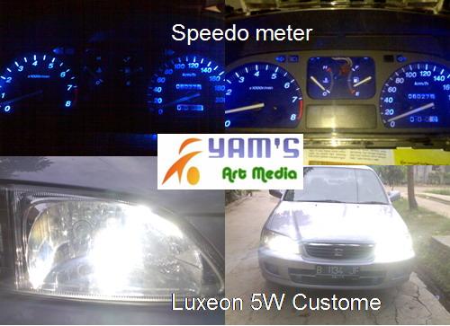 Speedometer + Lampu kota Luxeon 5W. Honda City Type Z