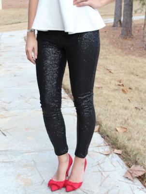 Black sequin leggings