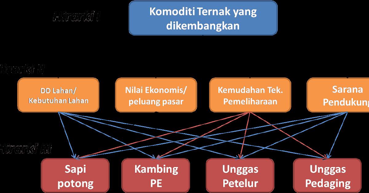 Aplikasi Ahp Pada Penetapan Komoditi Ternak Prioritas Di Kabupaten Majene Contoh Kasus