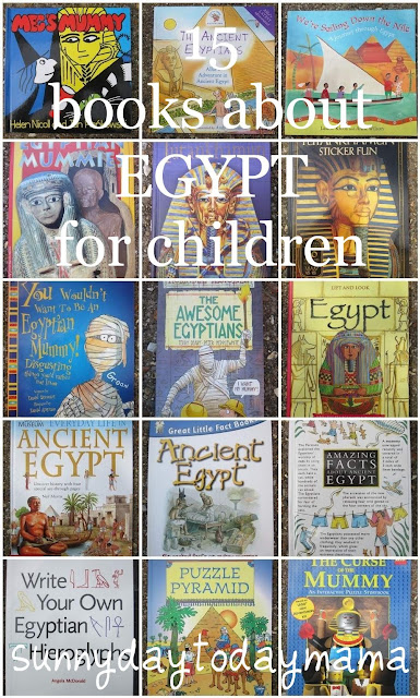 http://sunnydaytodaymama.blogspot.co.uk/2013/08/15-books-about-egypt-for-children.html