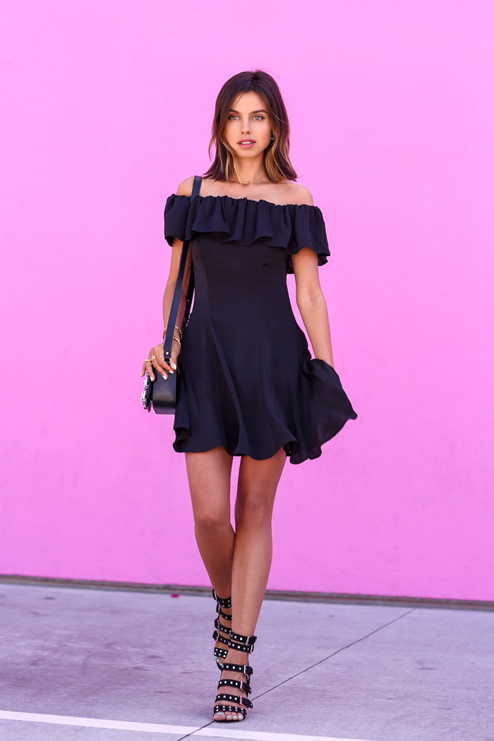 Capulet Off the shoulder black dress