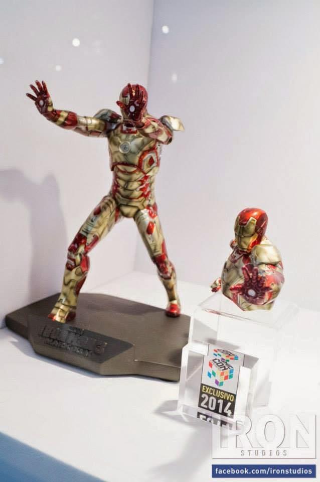 Estatueta Homem de Ferro Exclusiva Iron Studios Comic Con Experience